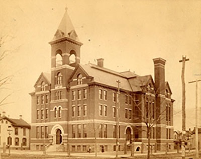 Williamsport High School Third and Walnut Streets c 1900